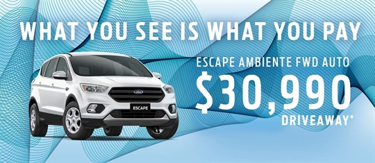 Pay What You See Offers at Adrian Brien Ford
