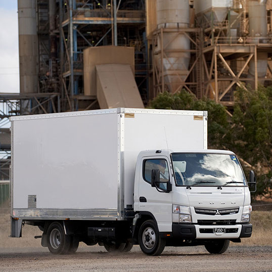 Fuso truck parked