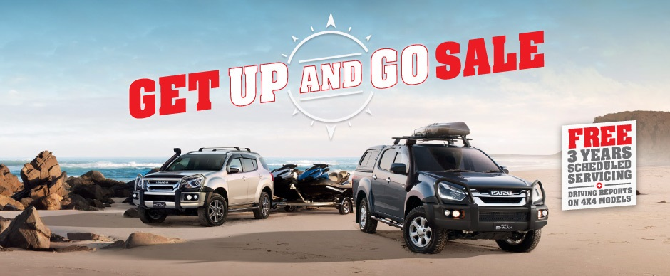 Get Up and Go Sale from Mackay Isuzu UTE