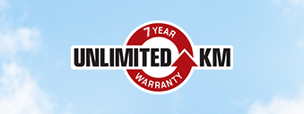 7 Year Unlimited KM Warranty