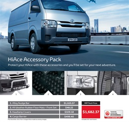 Toyota HiAce from Coffs Harbour Toyota