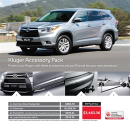 Toyota Kluger Genuine Accessories