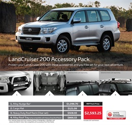 Toyota LandCruiser 200 Genuine Accessories
