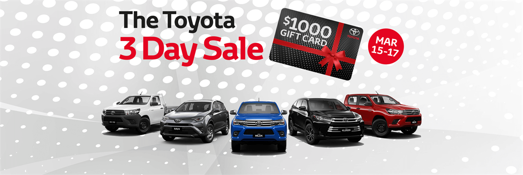 3 Day Sale At Co-Op Toyota
