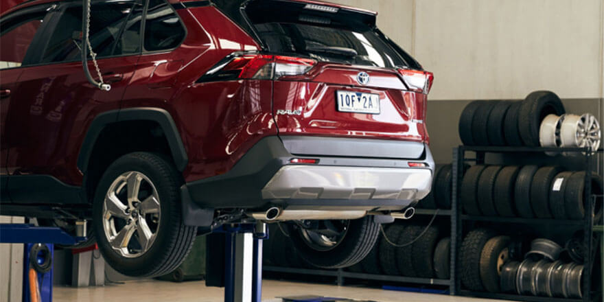 Maitland & Port Stephens Toyota Mechanic Servicing a Vehicle