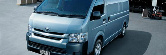 Phil Gilbert Toyota HiAce Exterior Front