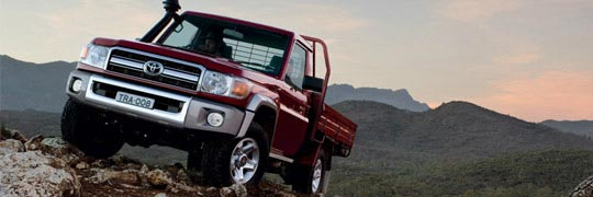 Peter Kittle Toyota - Alice Springs LandCruiser 70 V8 Turbo Diesel