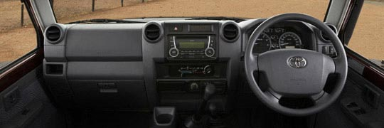 Peter Kittle Toyota - Alice Springs LandCruiser 70 Interior Absolute Workhorse