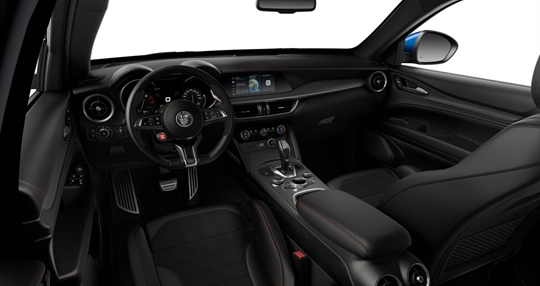 Black Leather & Alcantara Seats with Red Stitching Cockpit