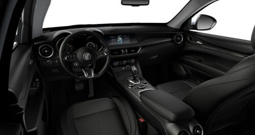 Stelvio Sports Seats in Black Leather with Matching Trim 1