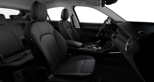 Stelvio Sports Seats in Black Leather with Matching Trim 2