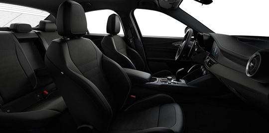 Black Leather & Alcantara Seats with Green Stitching and Black Lower Dash - Seats