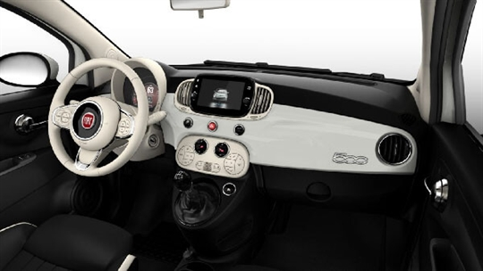 Black Leather Seats with Ivory Inserts and Ivory Ambience - Dash