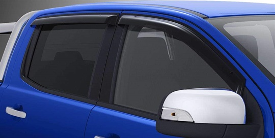 Weathershields - slimline - Double Cab front & rear