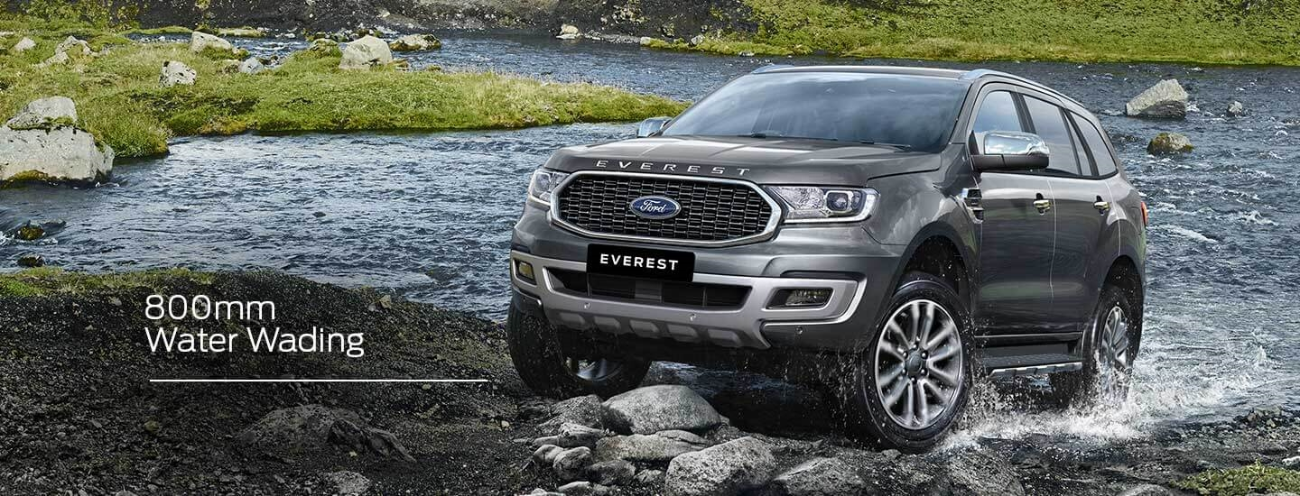 Ford Everest Capability Water Wading