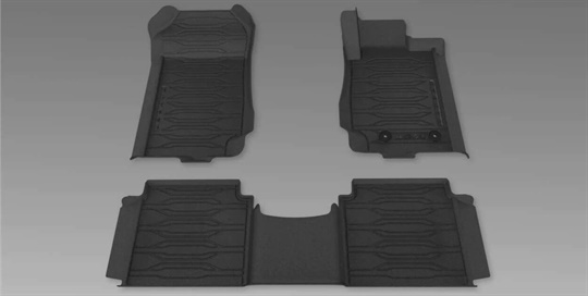 Mats All Weather Ford Perf - Dish Type Front and Rear Double Cab