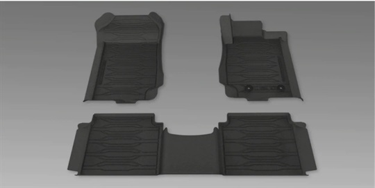 Mats All Weather - Dish Type Front and Rear Double Cab