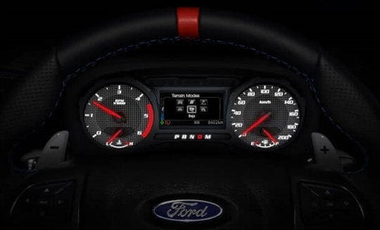 Ford Ranger Raptor X Terrain Mode Dash
