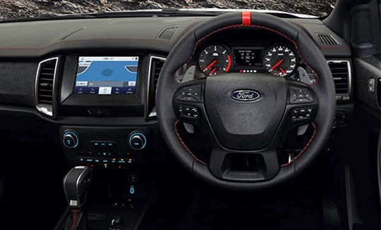 Ford Ranger Raptor X Paddle Shifters Dashboard