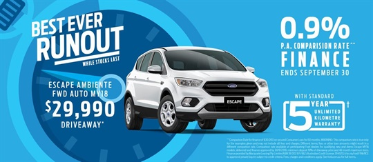 Best Ever Runout Offers at Essendon Ford