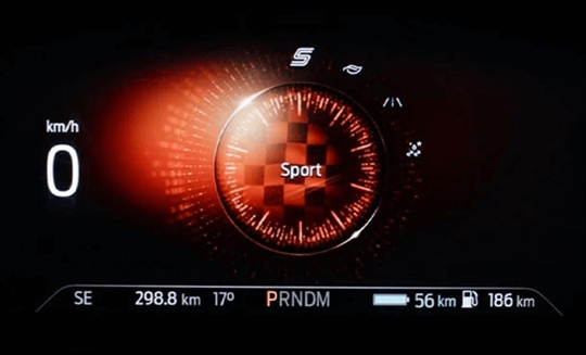 5 selectable drive modes