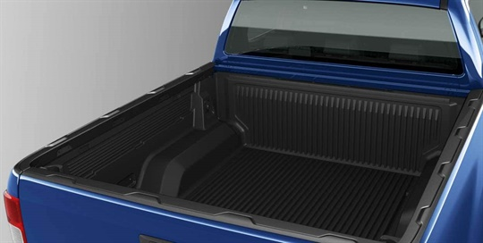 Bed rail cover (for vehicles fitted with bed liner)