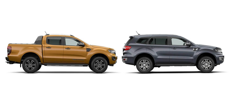 Ford Everest and Ford Ranger