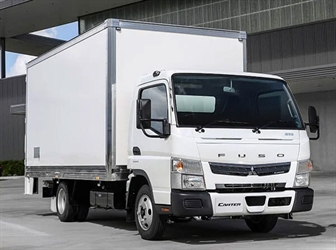 The current Fuso Canter available in 2021.