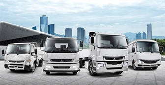 The Fuso range of trucks and buses