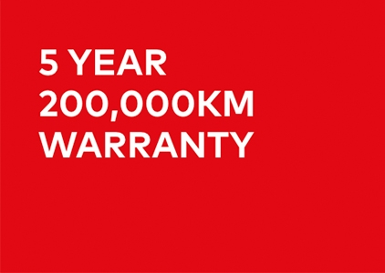 5 Year 200,000km Warranty