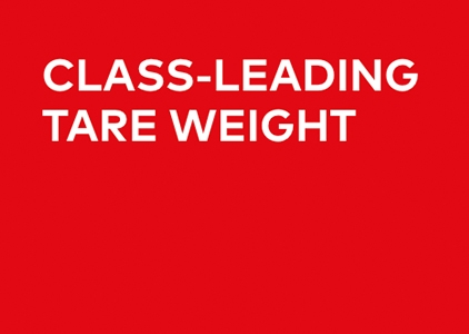 Class-Leading Tare Weight
