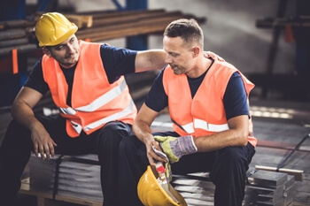 How can mental health be improved in the heavy vehicle and logistics industries? Image