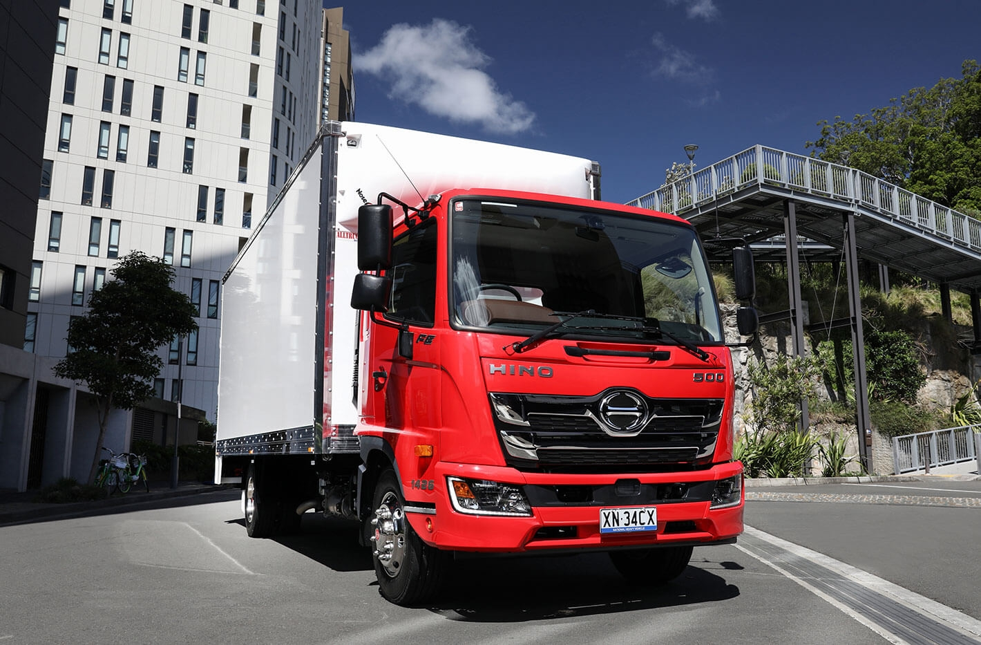 The strength of the medium-duty Hino 500 Series Standard Cab was key to Hino achieving record results.