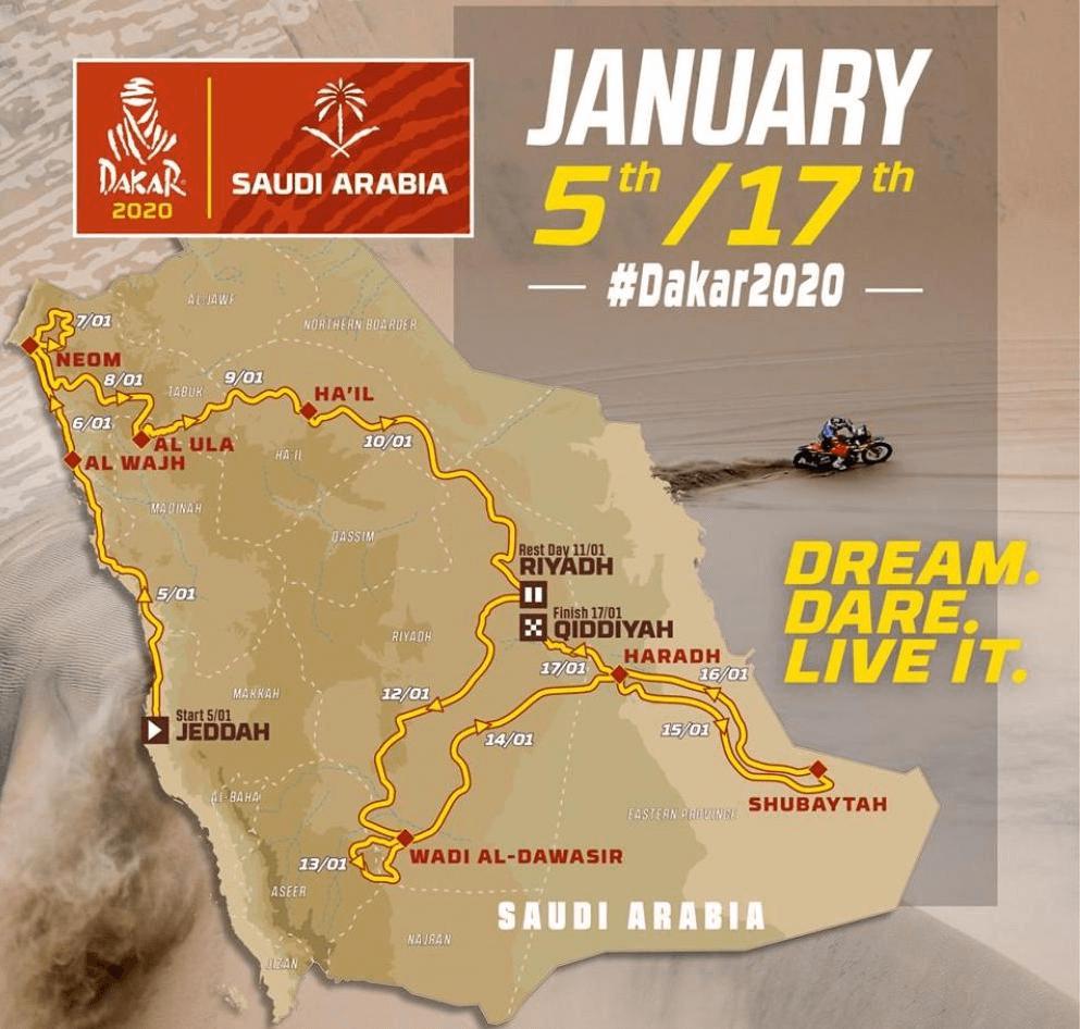Dakar Rally Map