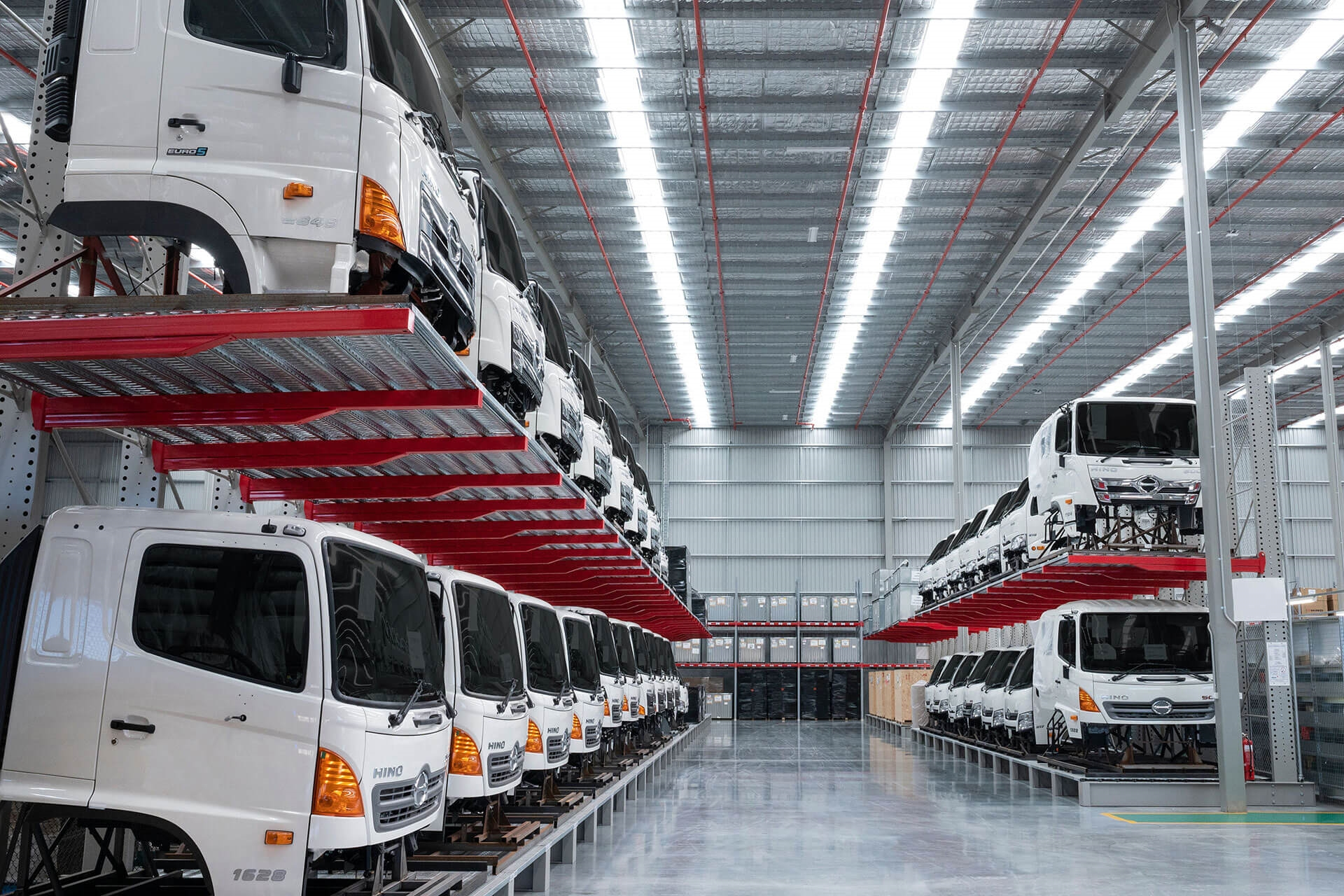 The floor space at the new Hino Parts Distribution Centre has doubled.
