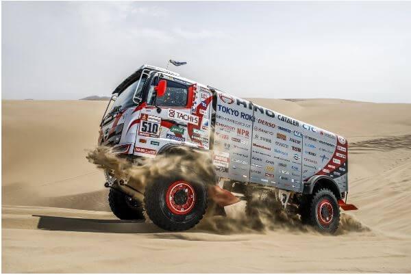 Car 2 competing at the 2019 Dakar Rally.
