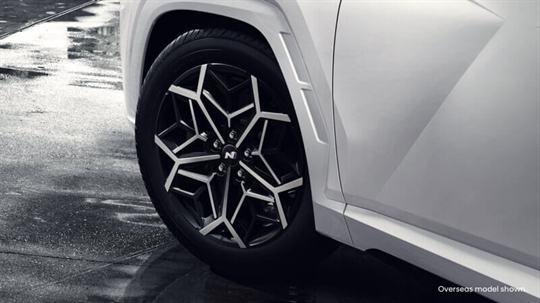 Exclusive 19-inch N Line alloys.