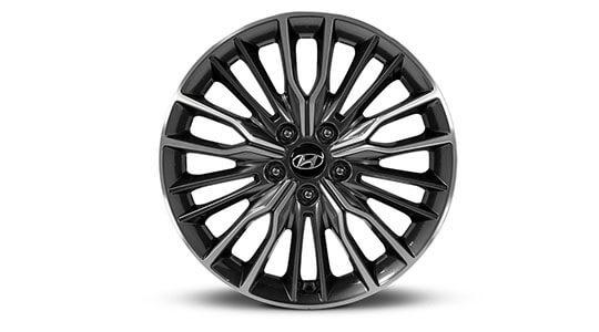"18"" Ulsan grey and silver alloy wheel."