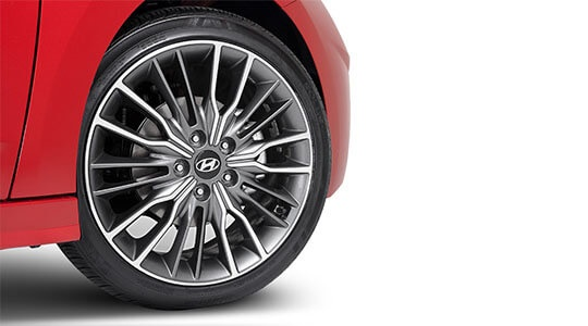 """18"""" Ulsan grey and silver alloy wheel & tyre package (sold singularly)."""