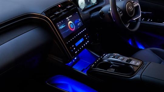 LED ambient mood lighting.