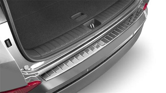 Rear bumper protector - chrome.
