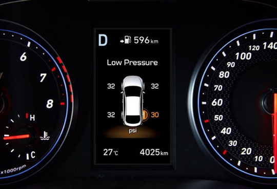 Tyre pressure monitoring sytem.