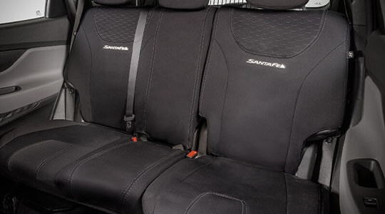 Water resistant neoprene - Rear seat cover.