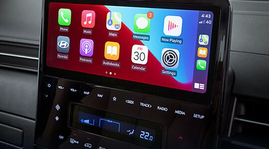 """10.25"""" touchscreen with Apple CarPlay™ and Android™ Auto."""