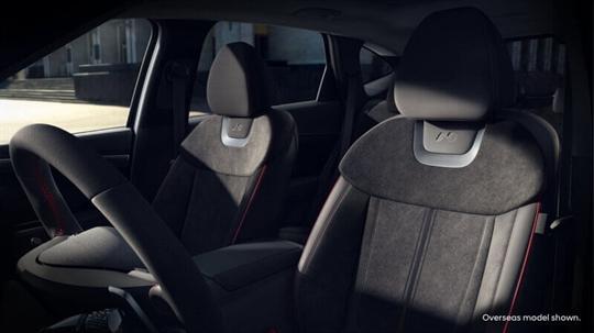 Performance-inspired interior trim.