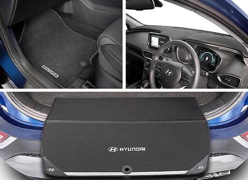 12 on Hyundai Santa Fe HEAVY DUTY CAR BOOT LINER COVER PROTECTOR MAT