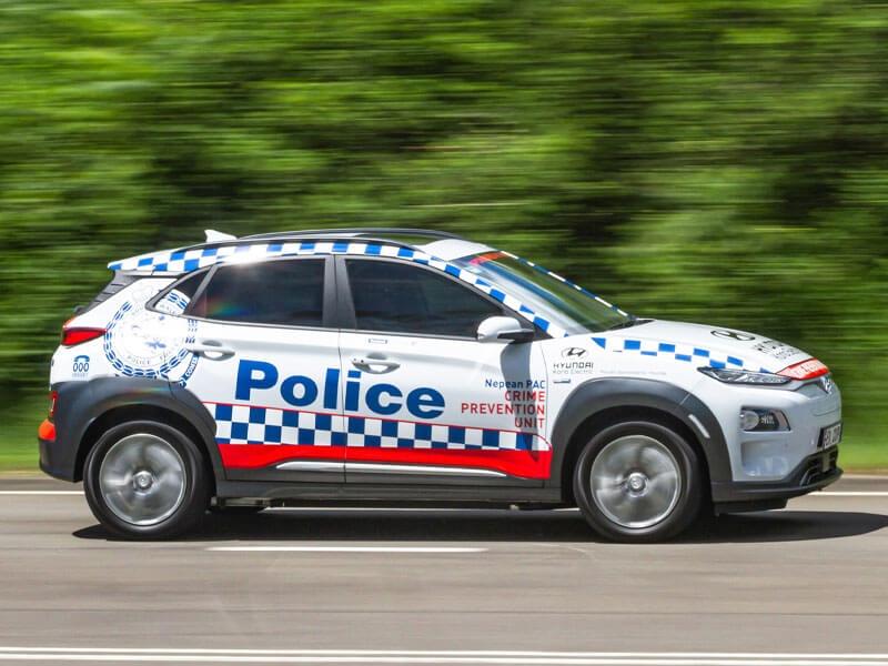 NSW Police Kona EV