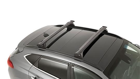 Hyundai genuine roof racks-through.