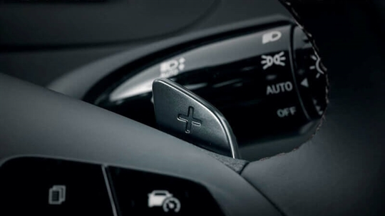 Paddle shifters.