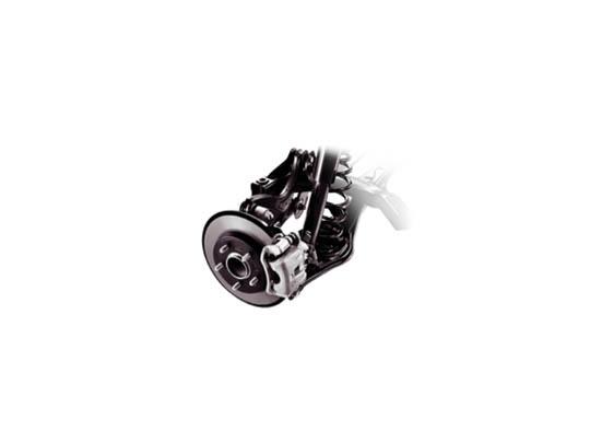 Multi-link rear suspension.